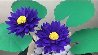 Lotus Flower Paper Craft | Paper Crafts For School | Paper Lotus Flower Making Easy