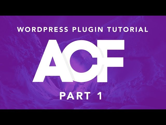 Building Websites With WordPress: ACF Plugin Part 1 - Basic Fields