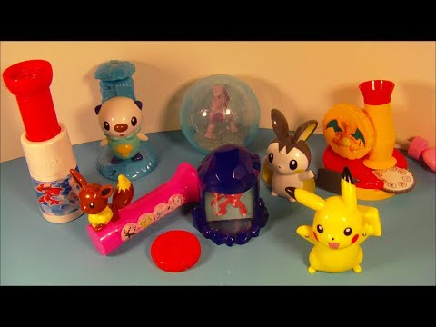 2014 POK��MON BLACK and WHITE SET OF 8 McDONALD'S KID'S MEAL TOY'S VIDEO REVIEW