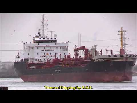 LEMONIA Chemical Products Tanker ..Thames Shipping by R.A.S. 08/01/2020