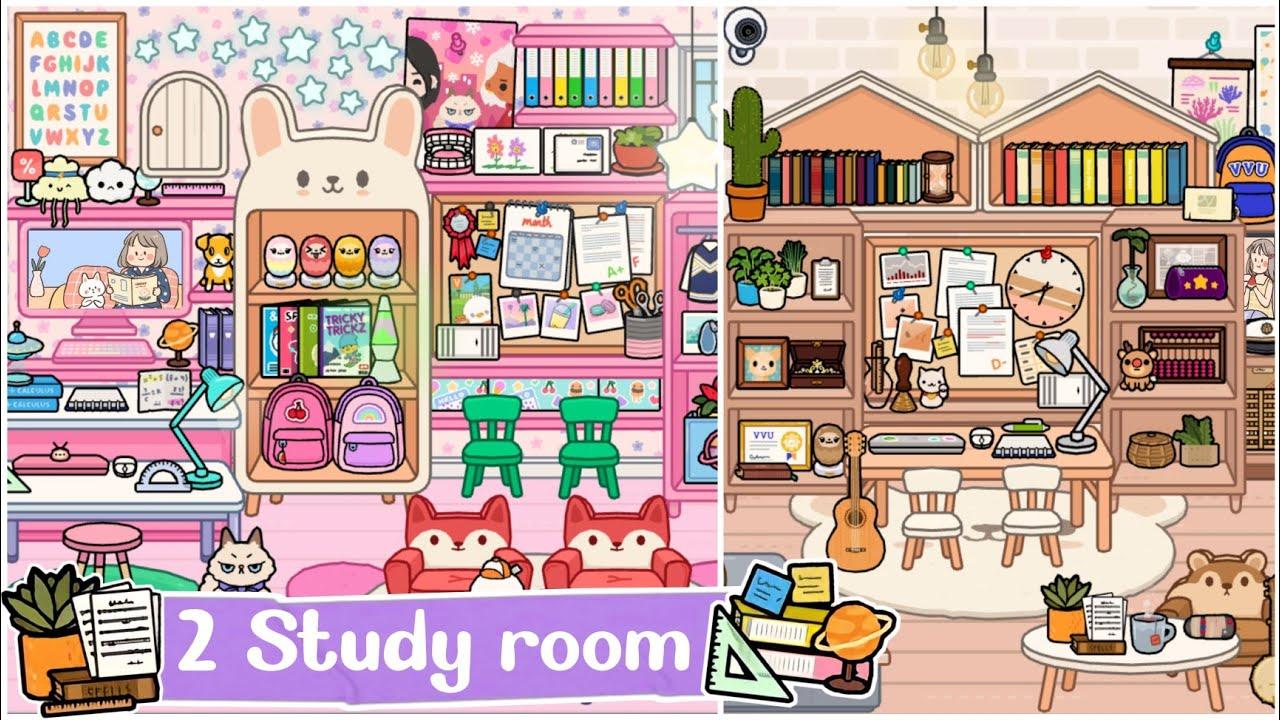 Toca Life World : 2 Study Room Design Makeover✍🏻👩🏻🏫📚   Toca Boca