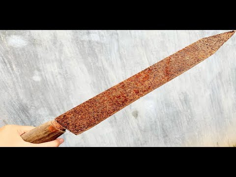 Restoration of old rusty sword - Restore rusted antique knives