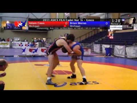 FILA Cadet Greco Final 100kg - Adam Coon (Michigan) vs. Brian Moran (Michigan)