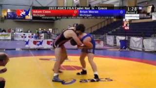 FILA Cadet Greco Final 100kg - Adam Coon (Michigan) vs. Brian Moran (Michigan)