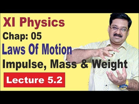 NCERT XI Physics Chap-5.2- Impulse, Mass, Weight  Laws of Motion