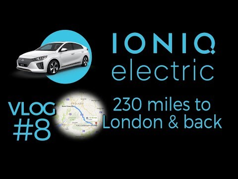 230 miles to London & back in an Ioniq EV. 14 minute timelapse.