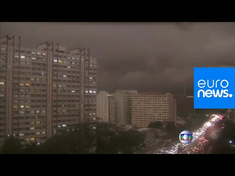 Amazon burning: Sao Paulo's smoke-filled skies make it dark at 2 p.m.