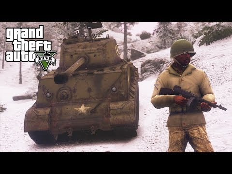 GTA 5 - Military Army Patrol Episode #46 - Battle Of The Bulge! World War 2 Mod (Christmas Special)