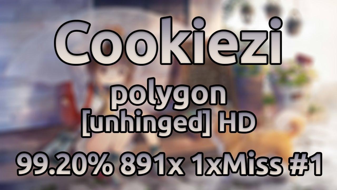 Cookiezi | Sota Fujimori - polygon [unhinged] HD 99.20% 891/1046x 1xMiss #1