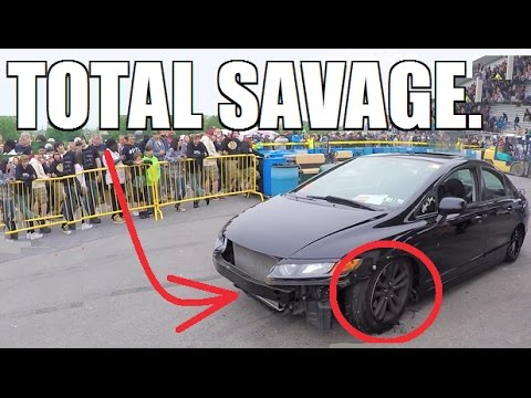 Honda Civic HUMILIATES Muscle Cars With 145MPH BURNOUT!!!