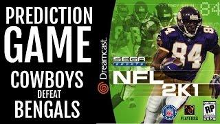 NFL 2K1 - SEGA DREAMCAST - PREDICTION GAME: Cowboys defeat Bengals