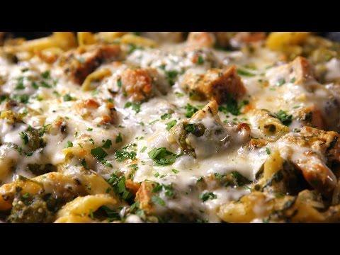 Salsa Verde Chicken Pasta | Delish