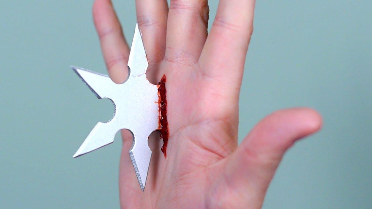 Broken Glass Finger Cut