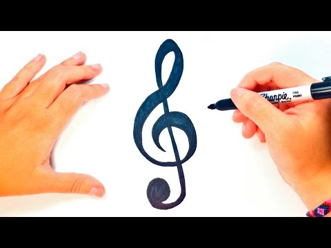 How to draw a Treble Clef | Treble Clef Easy Draw Tutorial