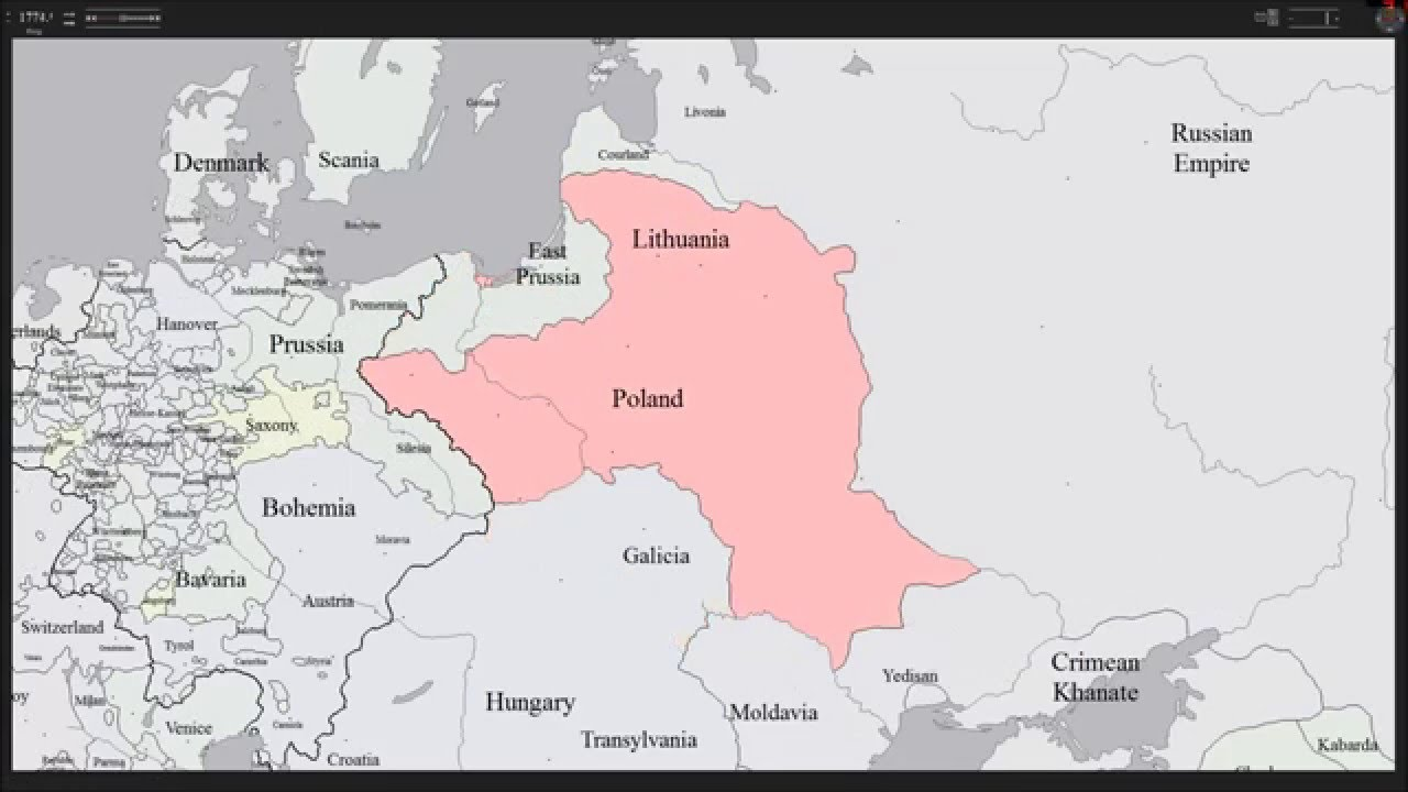 History Map of Poland & Lithuania - YouTube
