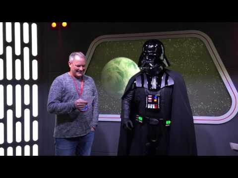 Interview with Darth Vader at Star Wars Launch Bay at Disneyland