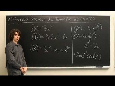Differences Between the Power Rule & the Chain Rule in Calculus : Calculus Explained