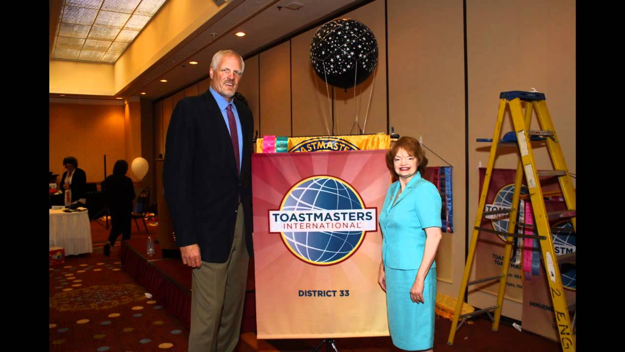 Mark Eaton gives Keynote Address to District 33 Toastmasters