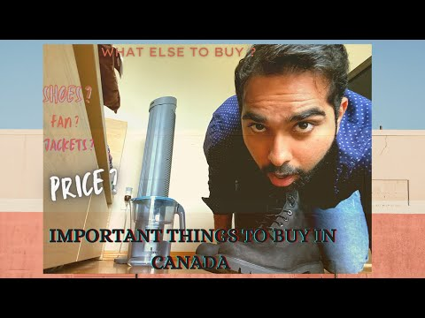 WHAT ARE THE THINGS THAT YOU NEED TO BUY IN CANADA ? | WHAT ARE THE PRICES ? || STUDENTS IN CANADA