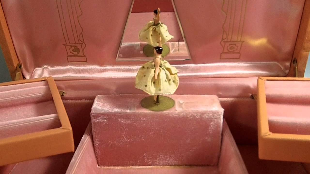 VINTAGE REUGE DANCING BALLERINA MUSIC JEWELRY BOX YouTube