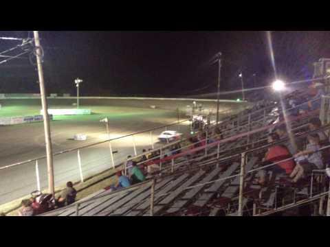 Grayson county speedway #55 Brandon Edgil hot stock red car