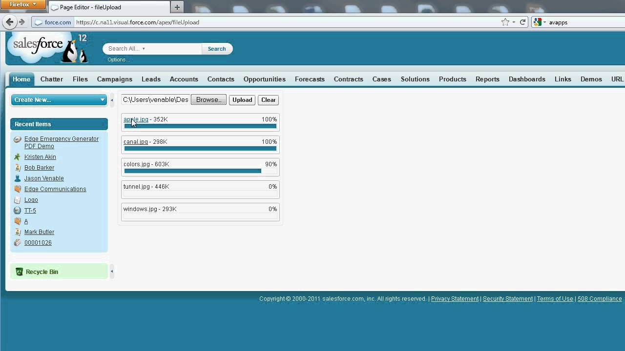 Visualforce Multi File Upload
