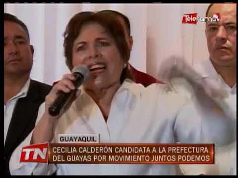 Cecilia Calderón candidata a la prefectura del Guayas por Movimiento Junto Podemos