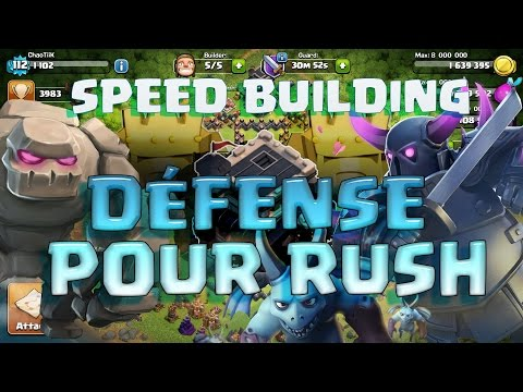 [SPEED BUILDING] HdV 9 Défense pour monter champion RAPIDEMENT
