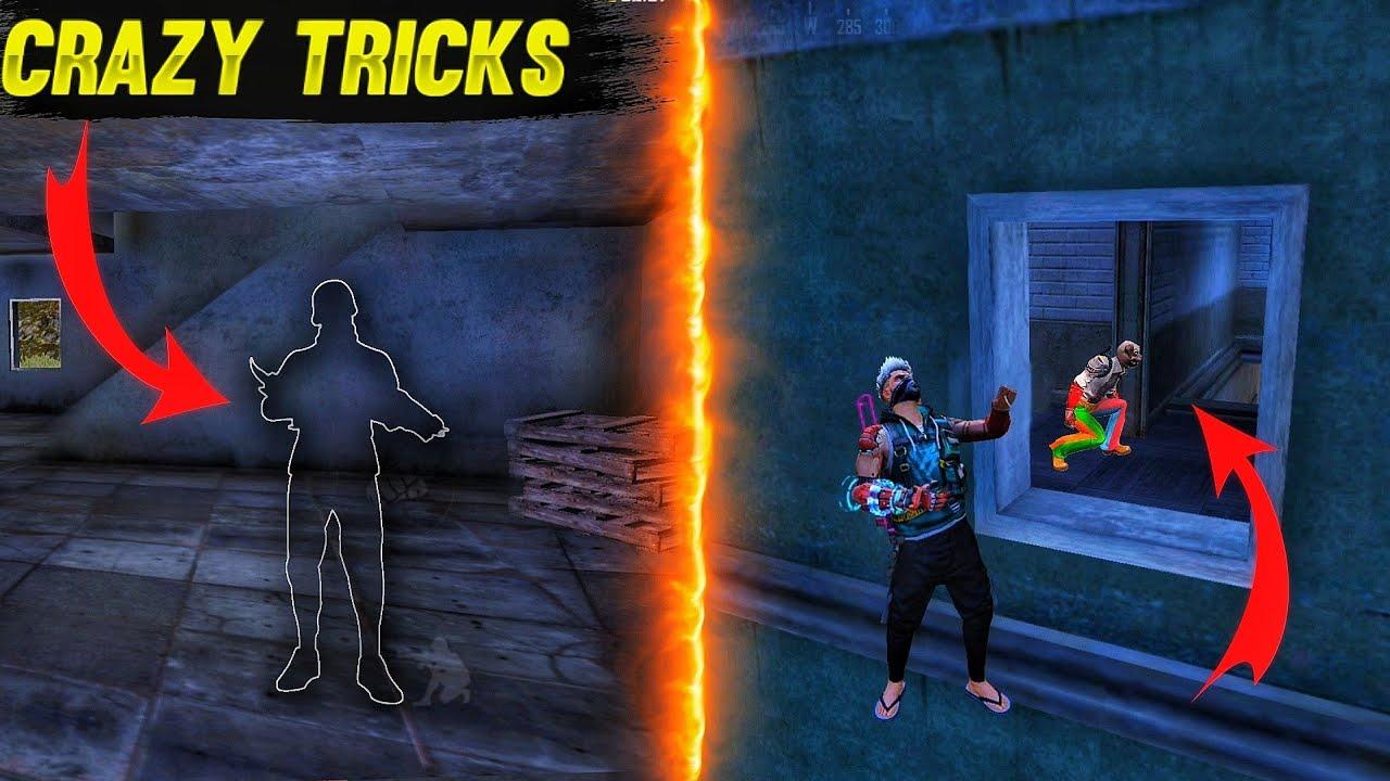 Download Top 5 New Unknown Tricks in free fire    Best Crazy 😂tricks in garena free fire