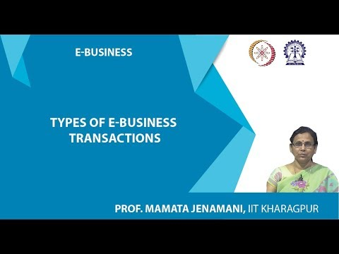 Types Of E-business Transactions