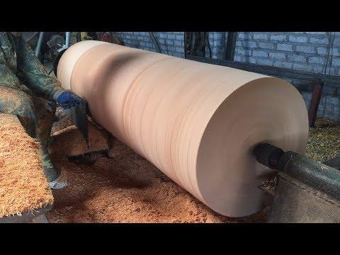 Dangerous Woodturning | Giant Wood Lathes - One Big Tree Create A Wood Vase