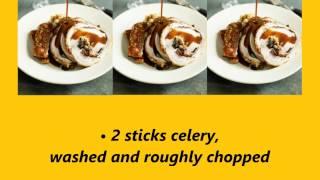 Recipe Gorgeous Dinner Of Porchetta Stuffed With Wild Mushrooms, Celeriac Mash & Gravy
