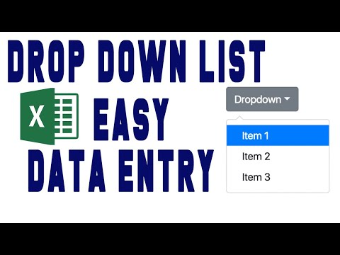 how to add drop down list in excel youtube