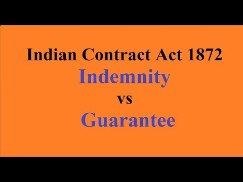 5 Distinction Between Contract Of Indemnity Guarantee Youtube