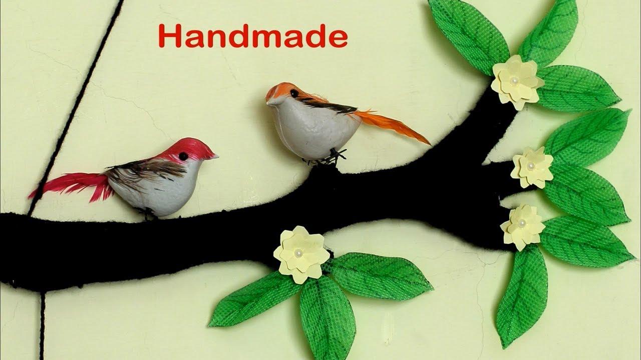 Wall Art Sparrow Using Woolen || DIY Room Decor Idea 2018 || Handmade Woolen craft Idea | Home Decor & Wall Art Sparrow Using Woolen || DIY Room Decor Idea 2018 ...
