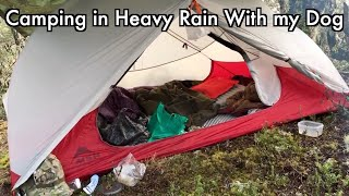 Camping in Heavy Rain