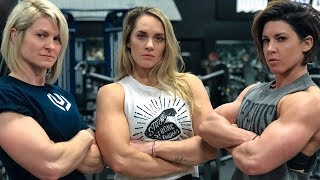 Women Try the FULL NFL Combine - 225 Bench Press For Reps | Dana Linn Bailey, Jennifer Thompson thumbnail