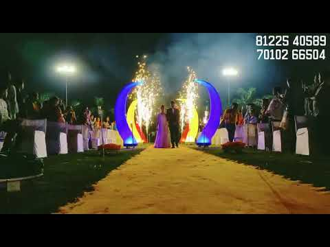 Colorful Bride Groom Entry New Concept LED Design Wedding Marriage Reception Event Decoration India 91 8122540589