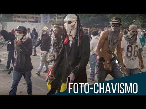 Gobierno chavista añade pistolas falsas a fotos de protestas en Venezuela