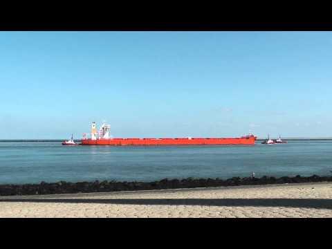 Samjohn Dream enters Port of Rotterdam , at Hook of Holland, 27 AUG 2014