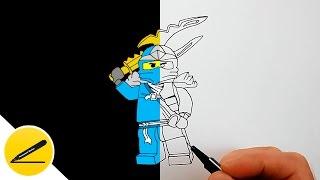 Как Нарисовать Ниндзяго Синий Ниндзя Джей ★ Рисуем Лего Ниндзяго поэтапно