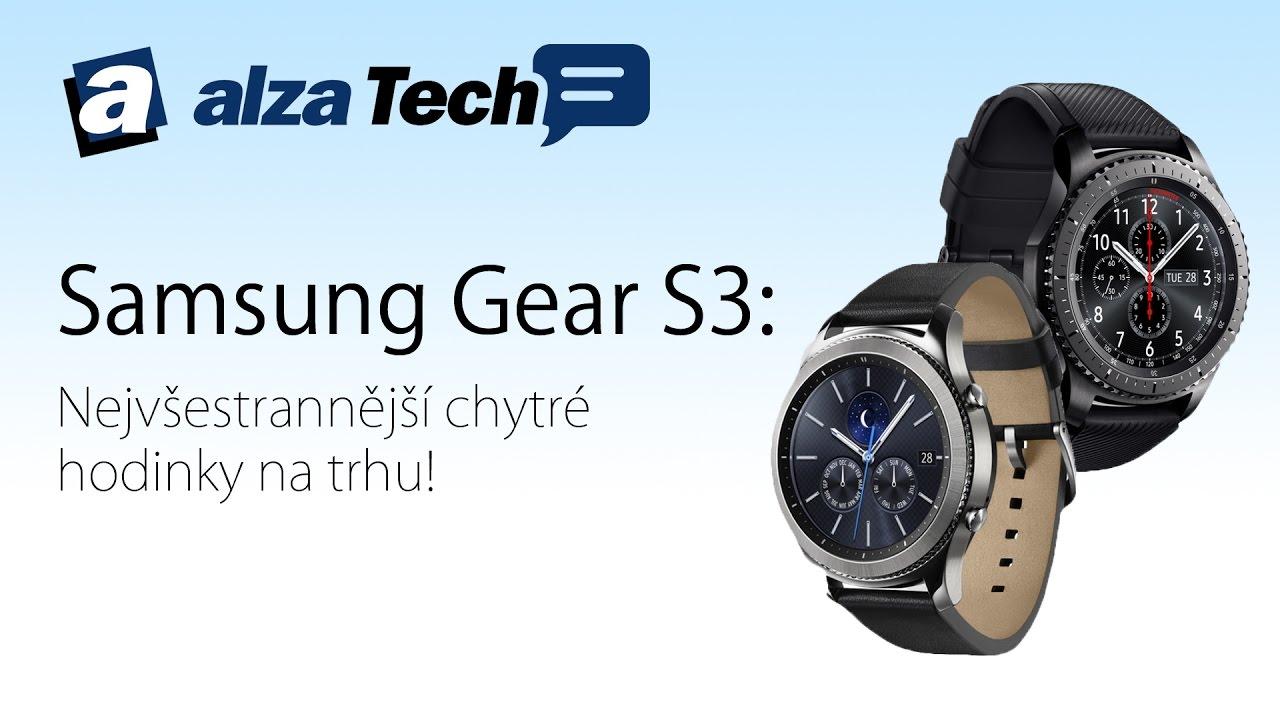 6390f8389 Samsung Gear S3: Nejvšestrannější chytré hodinky na trhu! - AlzaTech #463 -  YouTube