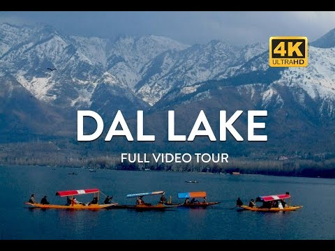 Dal Lake in Kashmir - Shikara Boat Ride in 4K