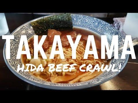 TAKAYAMA HIDA BEEF CRAWL - Amazing Sushi and more in Takayama, Japan!