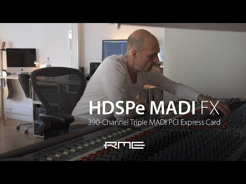RME Audio HDSPe MADI FX at Riverside Studios Berlin