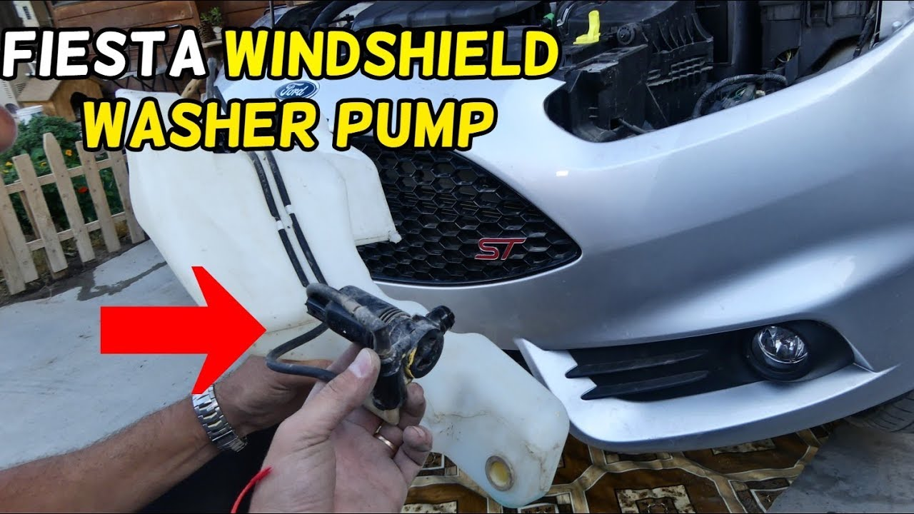 Ford Fusion St >> HOW TO REPLACE WINDSHIELD WASHER PUMP ON FORD FIESTA MK7 ...