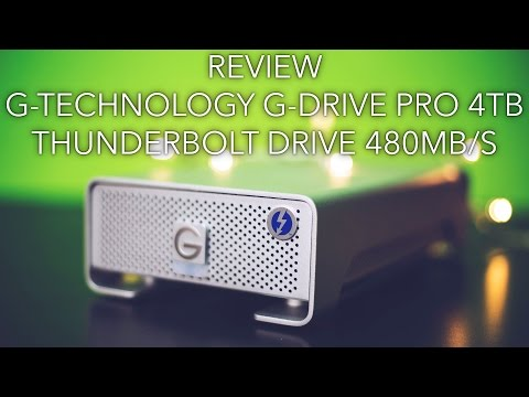 Review: G-Technology G-Drive Pro 4TB Thunderbolt 480MB/S!!