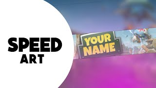 Fortnite Bannner Speedart Android (PS Touch) Free Template by AxialArts
