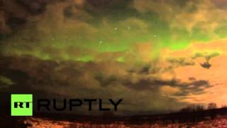 The sky is blue, the sky is green, even if it's early for Halloween: Northern lights seen in Russia