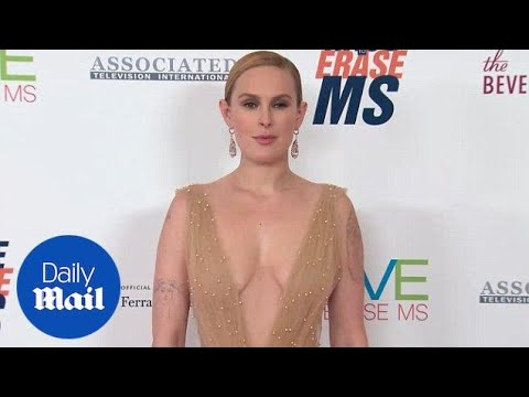 Bell of the ball: Rumer Willis stuns in golden gown at MS event  Daily Mail